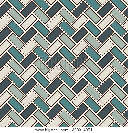 Herringbone Wallpaper. Abstract Parquet Background. Seamless Surface Pattern With Repeated Rectangul