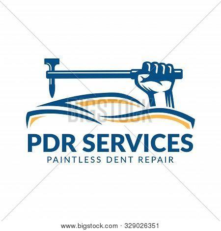 Paintless Dent Repair Logo, Pdr Service Logo, Automotive Company