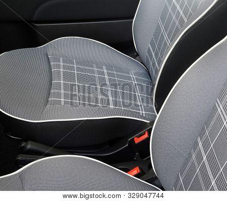 Modern car seats plaid textile