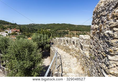 View From The Top Of The Battlement Of The Castle Of Penela, Built In The 12th Century In Penela, Co