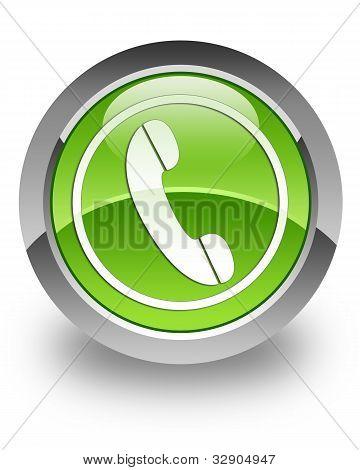 Phone glossy icon