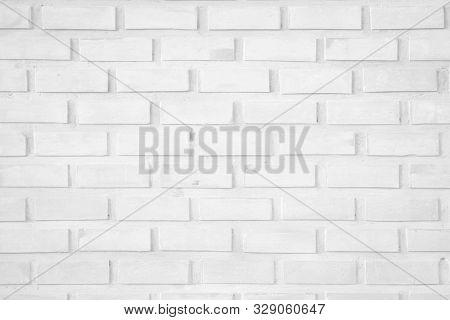 Wall white brick wall texture background. Brickwork or stonework flooring interior rock old pattern clean concrete grid uneven bricks design stack walls. Square white brick wall background. Pattern of white brick wall background. Wall white brick texture. poster