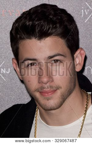 NEW YORK - OCT 19: Singer Nick Jonas attends the launch of their