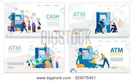 Financial Atm Services. Finance Operations Via Cash Pointer. Automatic Teller Machine Maintenance An