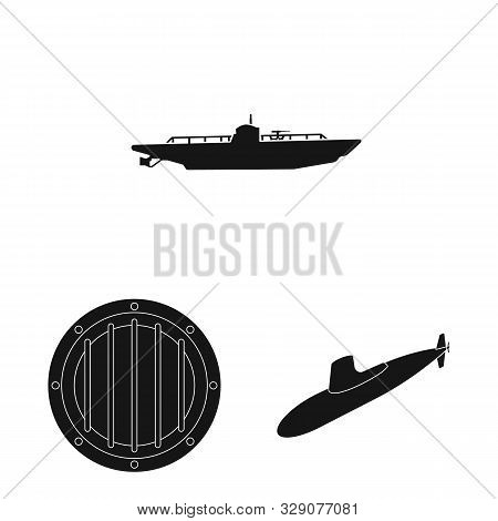 Isolated Object Of Technology And Fleet Symbol. Collection Of Technology And Navy Stock Symbol For W