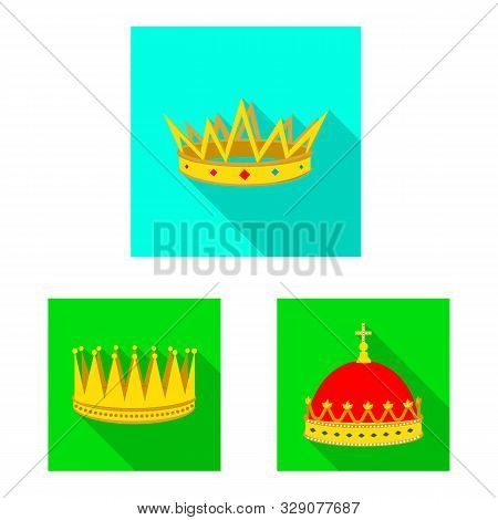 Vector Design Of Medieval And Nobility Symbol. Collection Of Medieval And Monarchy Vector Icon For S