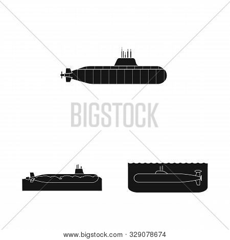 Vector Design Of Technology And Fleet Icon. Set Of Technology And Navy Stock Symbol For Web.