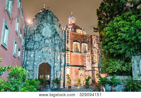 Church Of San Francisco On Madero Street In The Historic Center Of Mexico City, Mexico