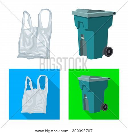 Vector Illustration Of Refuse And Junk Icon. Set Of Refuse And Waste Vector Icon For Stock.