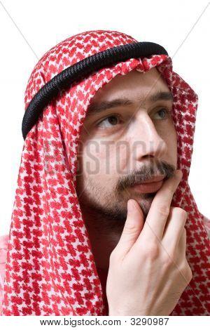 Thoughtful Arabian Young Man
