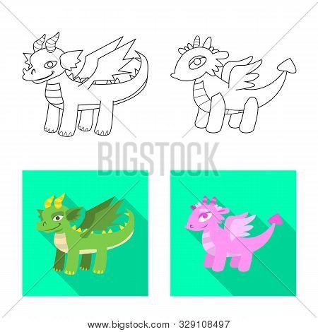 Isolated Object Of Legend And Halloween Icon. Set Of Legend And History Stock Vector Illustration.