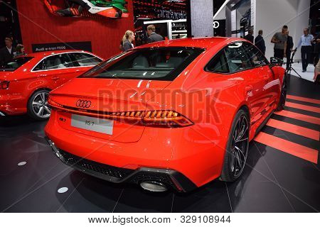 Frankfurt, Germany, September 09-2019: Audi Rs7 Iaa 2019