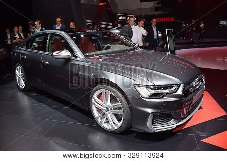 Frankfurt, Germany, September 09-2019: Audi S6 Iaa 2019
