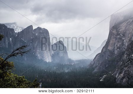 Misty Yosemite Valley View