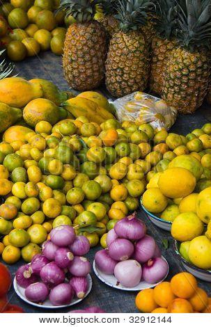 Vibrant Fruit In Outdoor Market