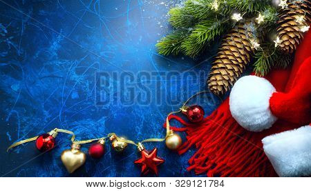 Merry Christmas And Happy Holidays Greeting Card, Frame, Banner. New Year. Noel. Christmas Tree Bran