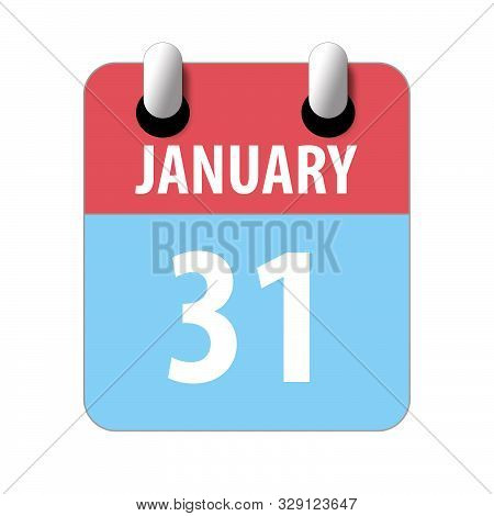 January 31st. Day 31of Month, Simple Calendar Icon On White Background. Planning. Time Management. S