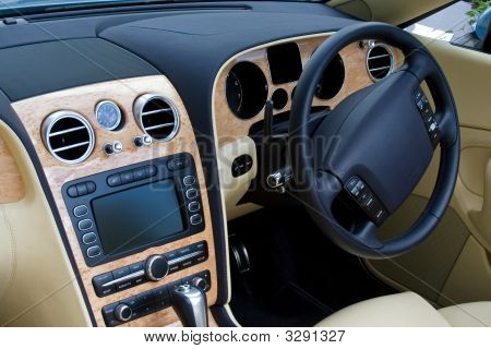 Looking In At Expensive Convertible Car Dashboard