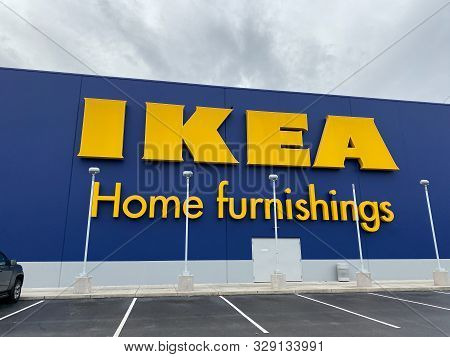 Orlando, Fl/usa-10/18/19: Ikea Home Furnishings Retail Store Building.  Ikea Sells Ready To Assemble