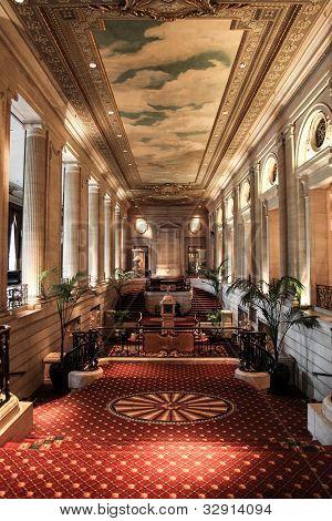 Conrad Hilton hotel lobby - Chicago