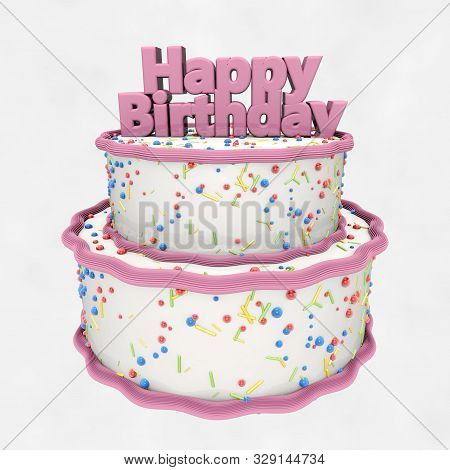 Astonishing Happy Birthday Cake Image Photo Free Trial Bigstock Birthday Cards Printable Riciscafe Filternl