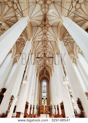 Munich, Germany - June 28, 2019: Interior Of Frauenkirche Or Cathedral Of Our Dear Lady In Munich. G