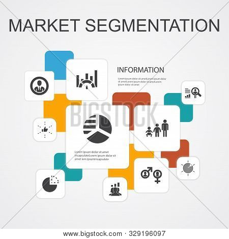 Market Segmentation Infographic 10 Line Icons Template.demography, Segment, Benchmarking, Age Group