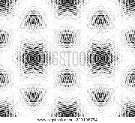 Abstract Seamless Pattern In The Style Of A Kaleidoscope. Hexagonal Image Structure.