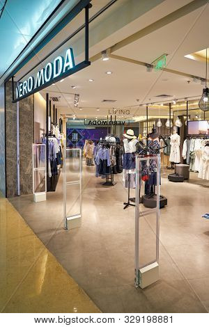 SHENZHEN, CHINA - CIRCA APRIL, 2019: entrance to Vero Moda store at a shopping mall in Shenzhen.