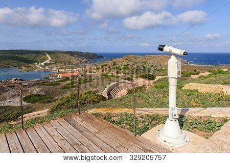 Cala Teulera Bay near La Mola Fortress on the island of Menorca, Spain poster