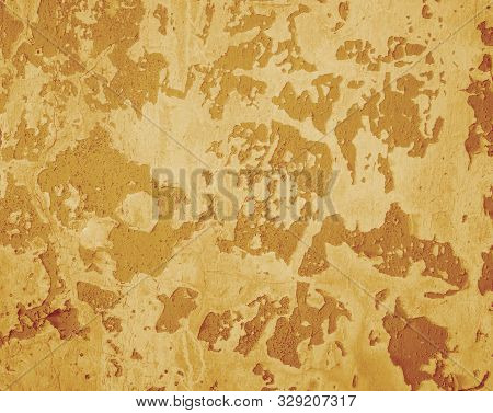 Old Wall Texture, Graphic Background, Concrete Orange Color