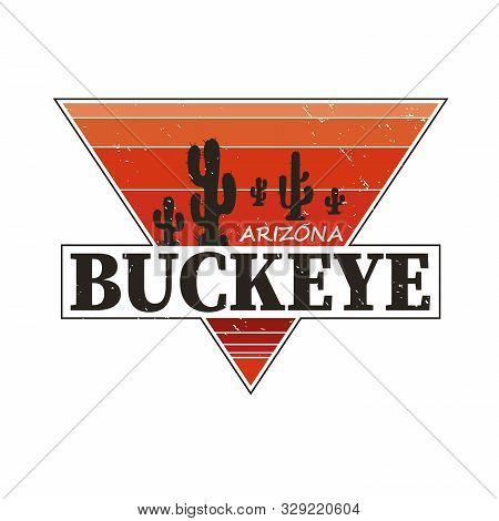 Buckeye City Travel Destination. Vector Shirt Logo