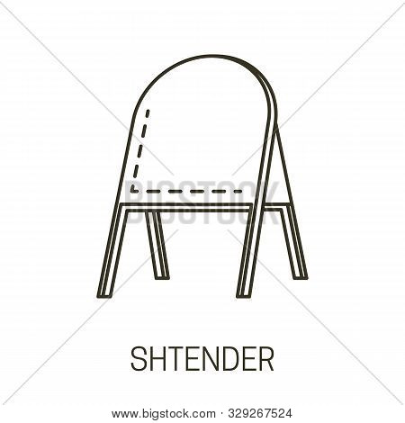 Stander Or Shtender, Outdoor Signboard, Advertising Stand, Isolated Icon