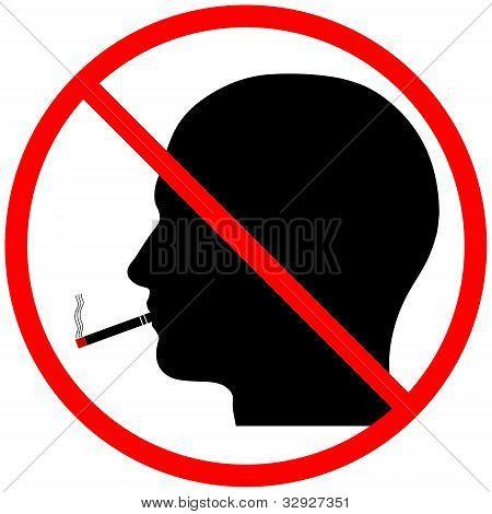 No Smoking Head Silhouette