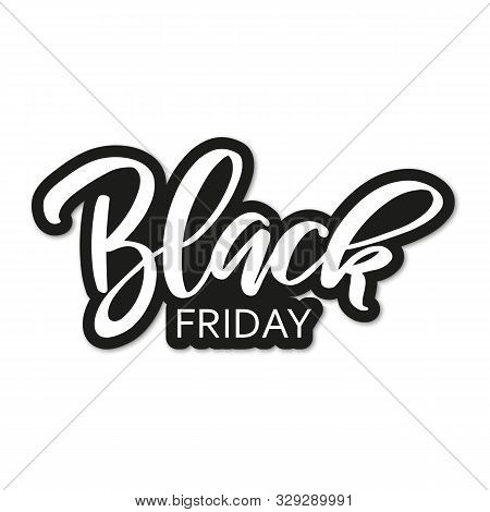 Black Friday Sale Inscription Design Template.  Black Friday Super Sale Offer. Discount Offer Presen