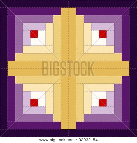 Quilt, Log Cabin Pattern, Barn Raising Design