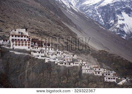 Diskit Monastery Galdan Tashi Chuling Gompa In Hunder Or Hundar Village Of Nubra Tehsil Valley While