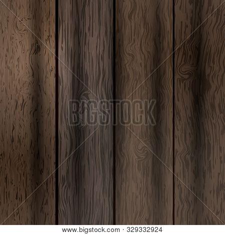 Illustration Of The Natural Dark Wooden Background
