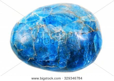 Blue Apatite Mineral Isolated