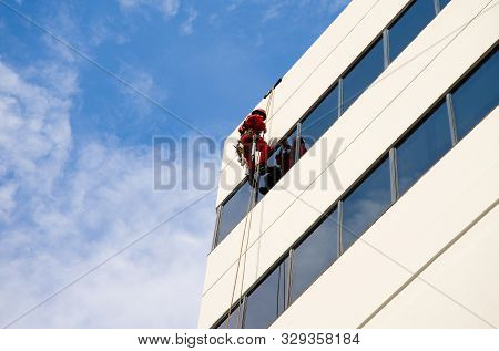 Windows Cleaning On City Building - Australia