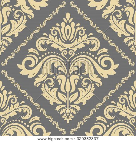 Orient Vector Classic Pattern. Seamless Abstract Background With Vintage Elements. Orient Gray And G