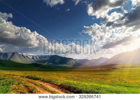 Green Mountain Pass In The Summer Sun.