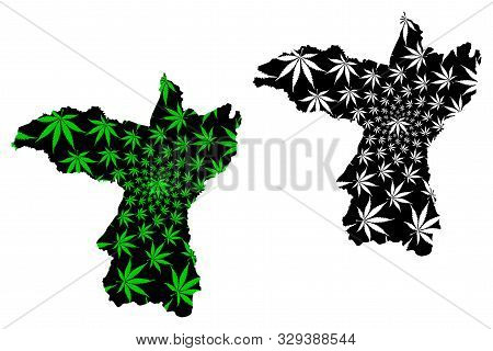 Khon Kaen Province (kingdom Of Thailand, Siam, Provinces Of Thailand) Map Is Designed Cannabis Leaf
