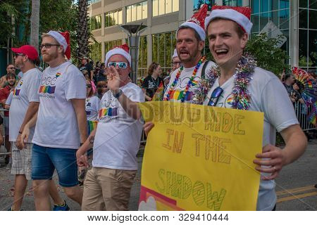 Orlando, Florida. October 12, 2019. Orlando Gay Chorus In Come Out With Pride Orlando Parade At Lake