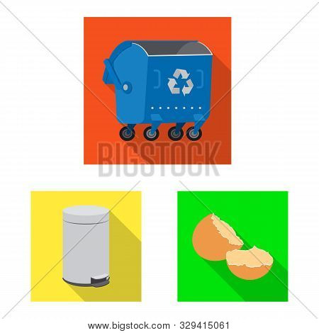 Isolated Object Of Refuse And Junk Sign. Collection Of Refuse And Waste Stock Symbol For Web.
