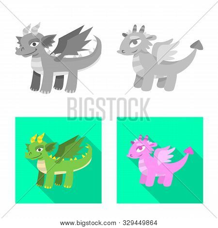 Vector Illustration Of Legend And Halloween Icon. Collection Of Legend And History Stock Vector Illu