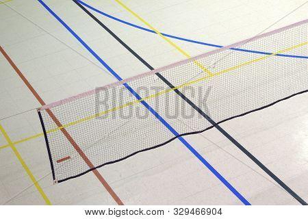 Badminton Court Net Education Gymnasium Sport Lines