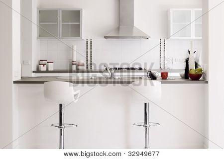 Modern Showcase Kitchen Interior In White