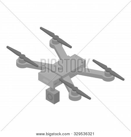 Professional Drone Icon. Isometric Of Professional Drone Vector Icon For Web Design Isolated On Whit