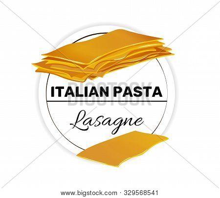 Label Of Lasagne, Pasta For A Puff Casserole.